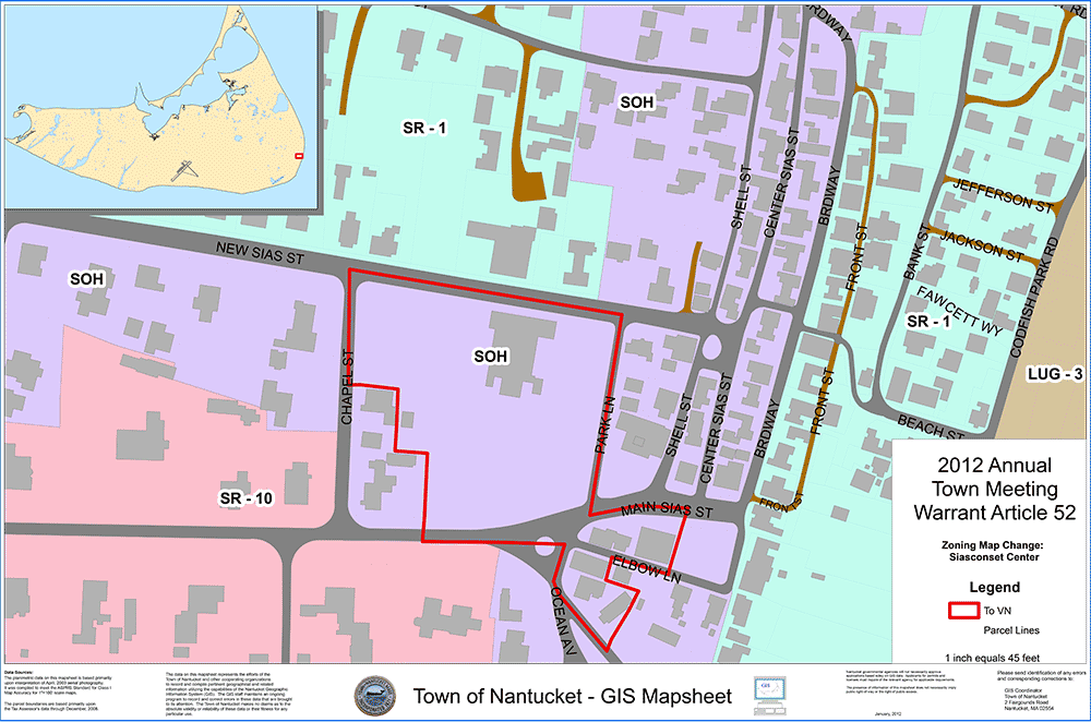 The above map shows in red the zoning change to Village Neighborhood (VN).