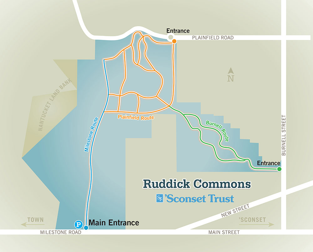 Ruddick Commons Trail Map