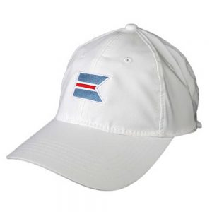 White baseball cap with the 'Sconset Trust logo .