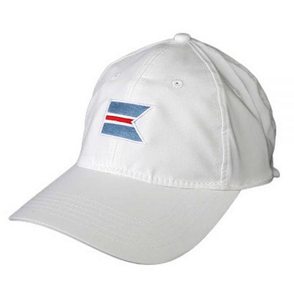 White baseball cap with the 'Sconset Trust logo .