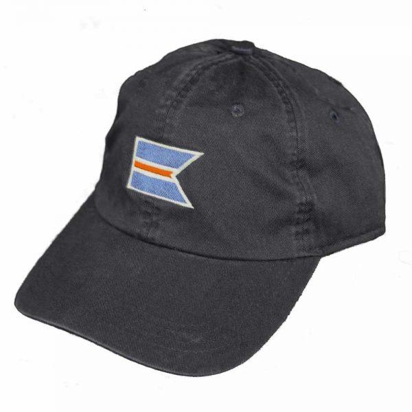 Navy baseball cap with the 'Sconset Trust logo .