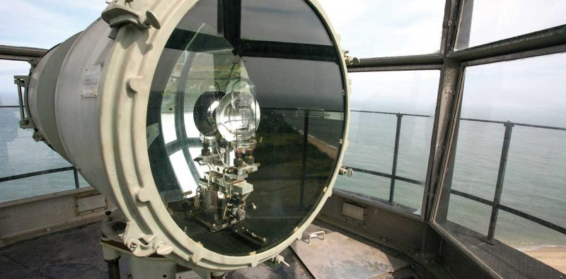 Sankaty light lamp and lens