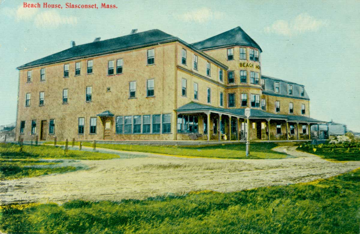Illustration of the Beach House, a large resort hotel
